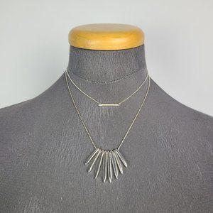 Stella & Dot Rebel Cluster Silver Tone Necklace